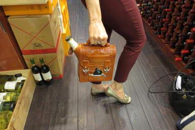Crazy purse of vodka on 58th Street