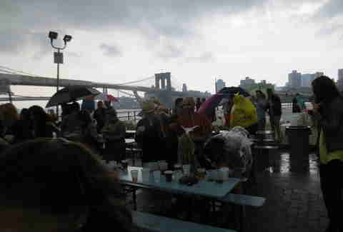 Rain at Beekman Beer Garden
