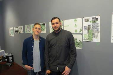 Gorey's art exhibit, Lower East Side