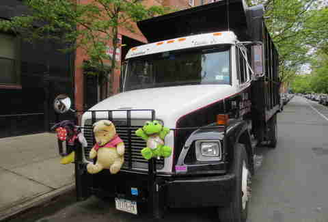 Truck with stuffed animals in Manhattan