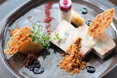 Foie gras terrine and push-pop