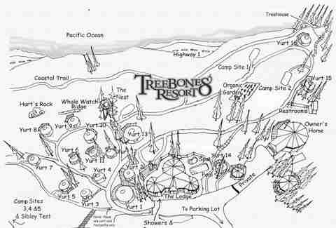Treebones Resort Big Sur Map