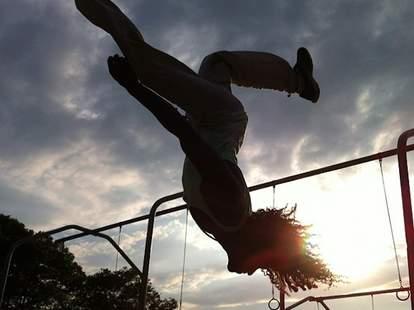 Capoeira, parkour at Brooklyn Beast