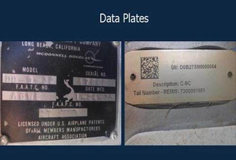 air force one data plates