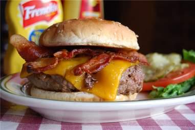A bacon cheeseburger from Bill's Bar & Burger at Harrah's AC