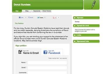 Donut Sundae Petition