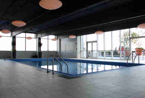 Indoor pool at the Revere Hotel