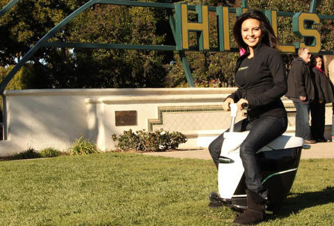 woman riding an iGo