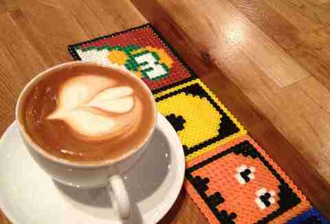 Latte art at Wormhole