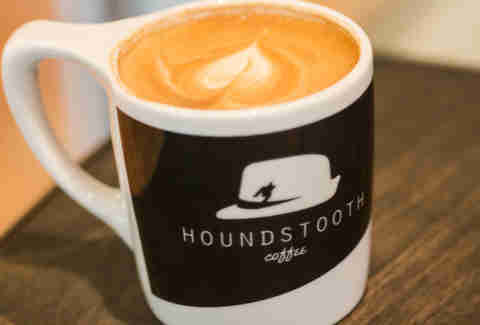 A cup of Houndstooth Coffee