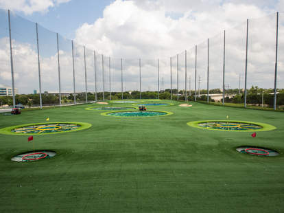 The driving range at TopGolf