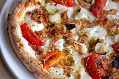 crisp pancetta pie at Pizza Republica