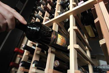 wine bottle at Pizza Republica