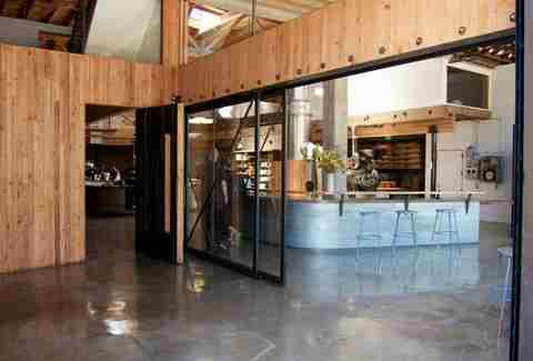 The interior at Sightglass Coffee