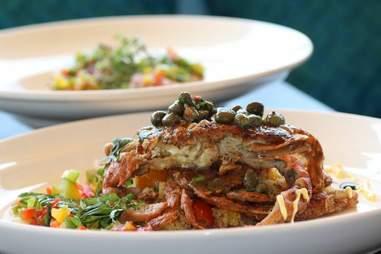 Soft shell crab at Madison and Main