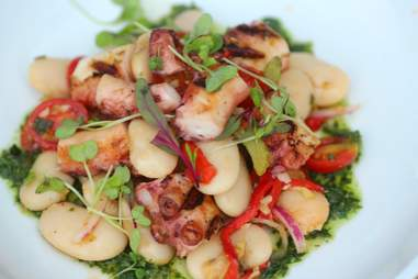 Fire roasted Spanish octopus at S3