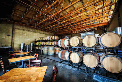 Wine barrels at Solterra Winery and Kitchen in Leucadia.