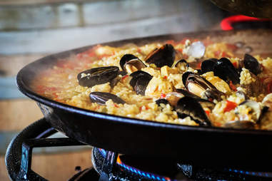 Paella at Solterra Winery and Kitchen in Leucadia.