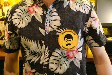The King of ladies man bartenders hawaiian shirts