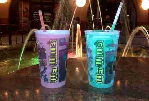 Alcoholic slushies at Wet Willie's San Diego