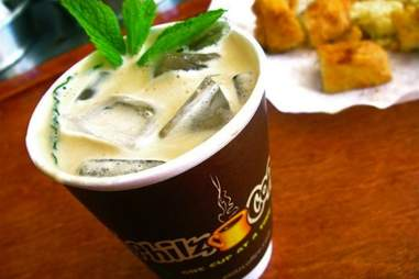 A cup of iced coffee from Philz Coffee