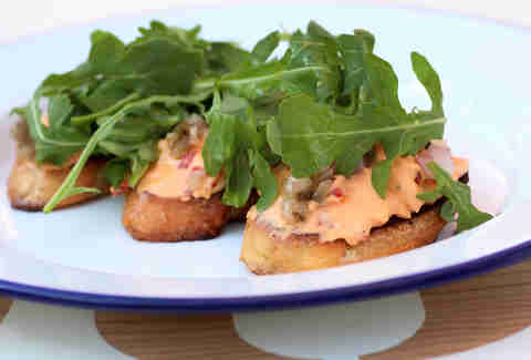 Pimento cheese toasts at Parson's Chicken & Fish