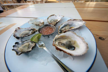 Oysters at Parsons Chicken & Fish in Chicago