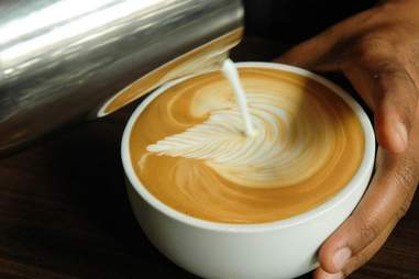 A cup of coffee at Caffe Medici
