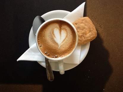 Latte art at Cafe Moto