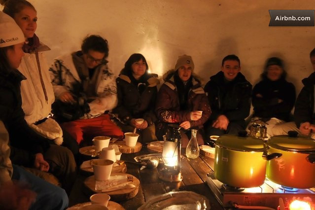 Live in an ice cave while eating fondue and skiing
