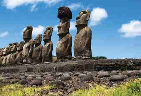 around the world with geoffrey Kent easter island