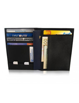Sleek wallets, bags, and money clips