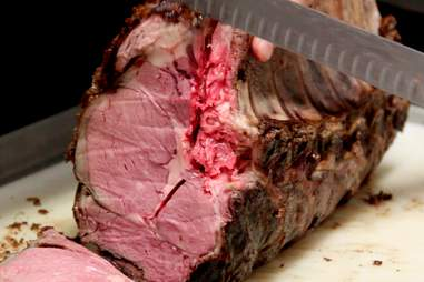 Slow roasted prime rib sliced at Preview Bar at Bally's