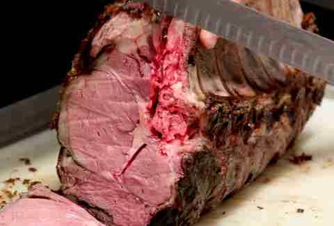 Slow roasted prime rib sliced at Preview Bar at Bally's