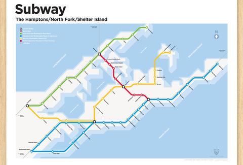 Hamptons Subway Map.Transit Authority Figures Hamptons Subway Map Own Thrillist