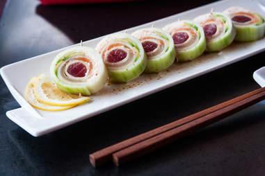 The Jewel roll at Shiku Sushi in La Jolla.