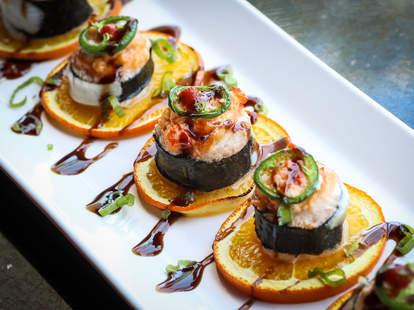 The I'm So Baked roll at Shiku Sushi in La Jolla.