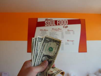 Dollars at Lena's Soul Food Cafe