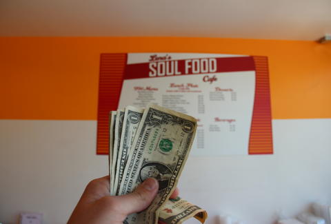 Dollars at Lena's Soul Food Cafe