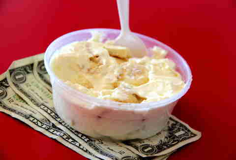 Banana pudding at Lena's Soul Food Cafe