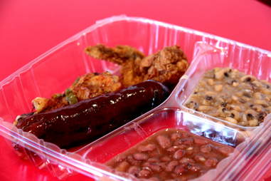 Beef link at Lena's Soul Food Kitchen