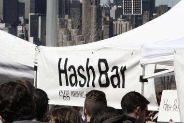 Hash Bar at Smorgasburg