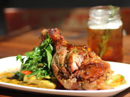 The bone-in ham hock from Mason's Restaurant and Barre