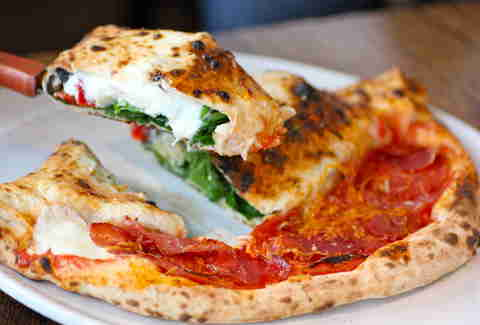 The pizza-calzone hybrid from Pizza Republica