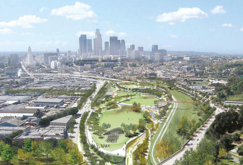 A rendering of the Los Angeles Historic Park