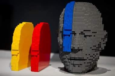 Lego sculpture at Art of Brick, Nathan Sawaya
