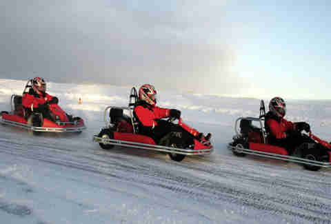 Ice go karting in Siberia