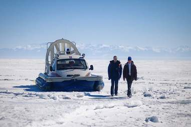 Hovercraft across Lake Baikal in Siberia