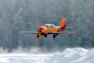 Aerobatic flying in Siberia