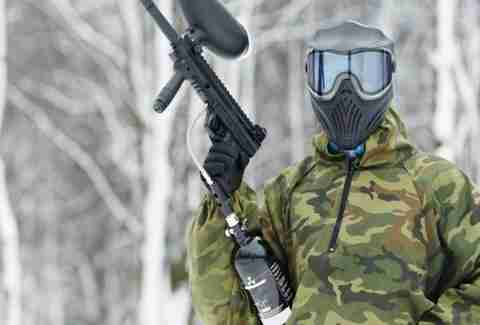 Paintball in the taiga forests of Siberia